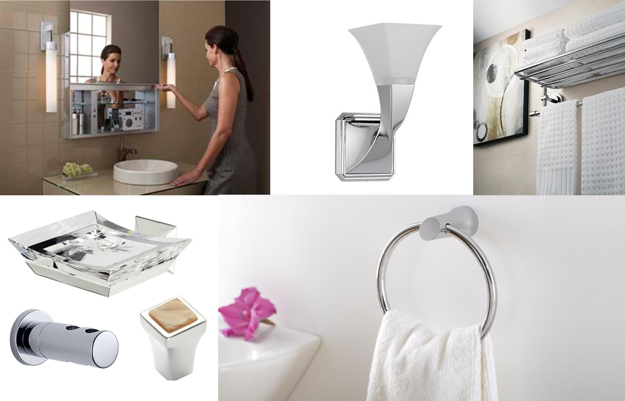 sleek & chic: bathroom accessories - interior design center of st