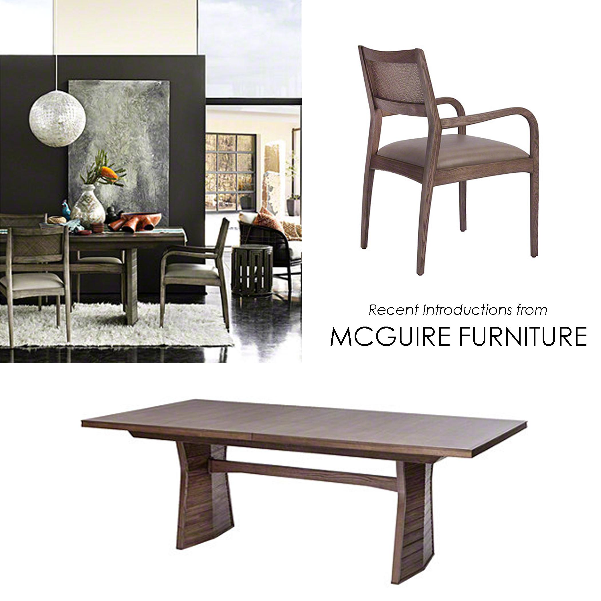 Dining Table And Chair By Mcguire Furniture