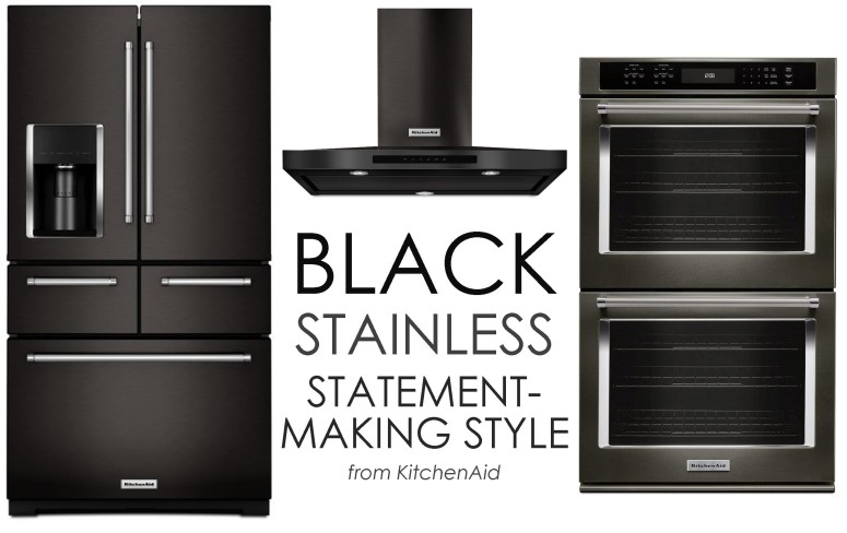 Bold Black Stainless Kitchenaid on black smeg, black ge, black paula deen, black apple, black hp, black samsung, black whirlpool, black microsoft, black pfaltzgraff, black aga, black gibson, black lg, black tupperware, black estate,