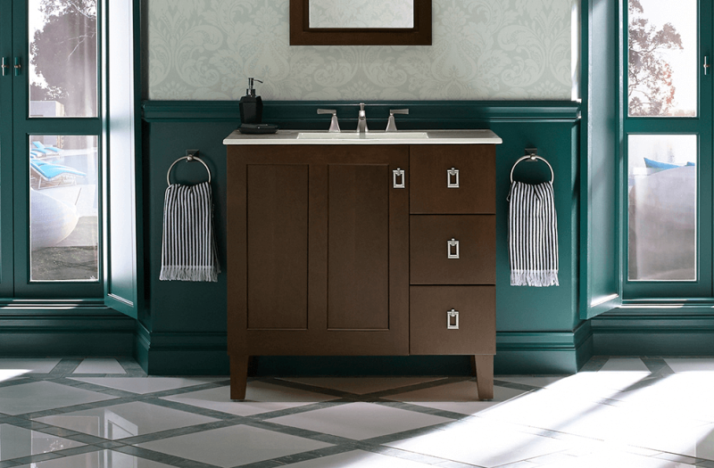 Poplin from KOHLER's Tailored Vanity Collection