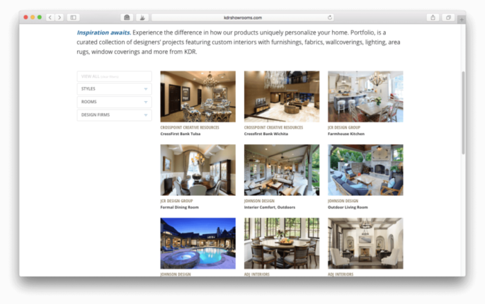 A showcase of kdr product designer projects interior for St louis interior design firms