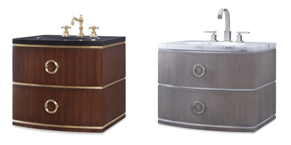 Bathroom Vanity | Cirque Wall Sink Chest by Ambella Home