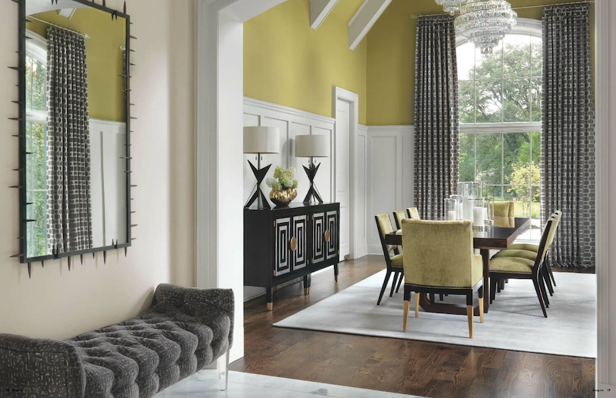 Sophisticated Living - Dining Room by ADJ Interiors