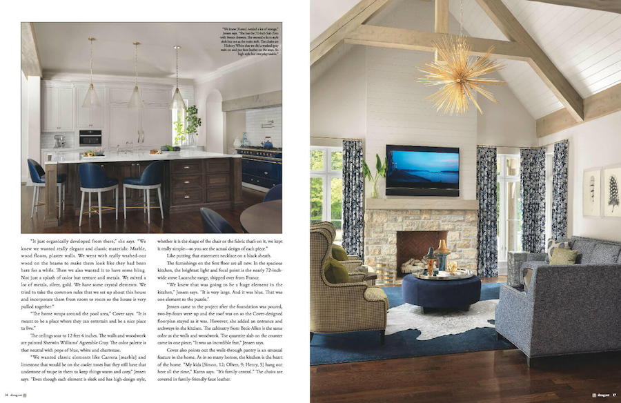 Sophisticated Living | Ladue Home Designed by ADJ Interiors