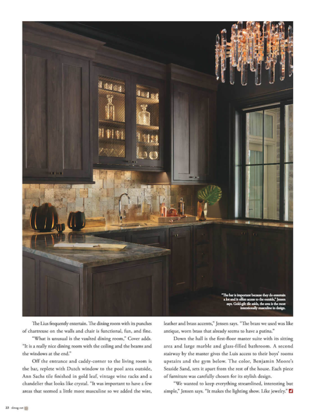 Sophisticated Living | Wet Bar Designed by ADJ Interiors