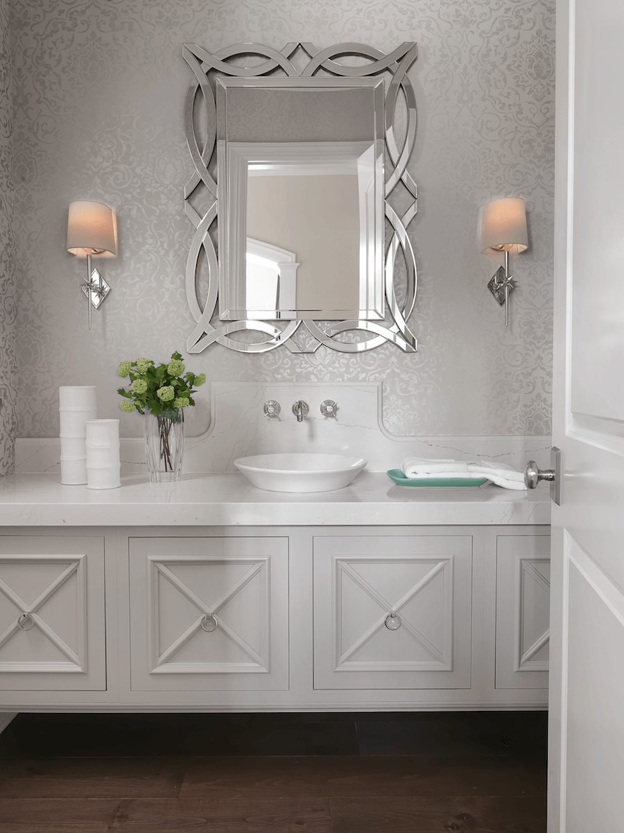 Fashion Forward Powder Room | Beck:Allen Cabinetry and Tamsin Design Group