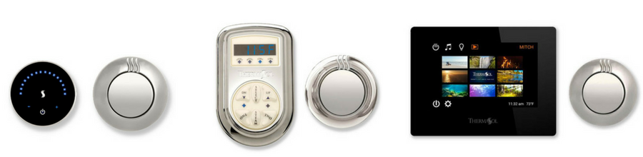 ThermaSol Steam Shower Controls and Showerheads