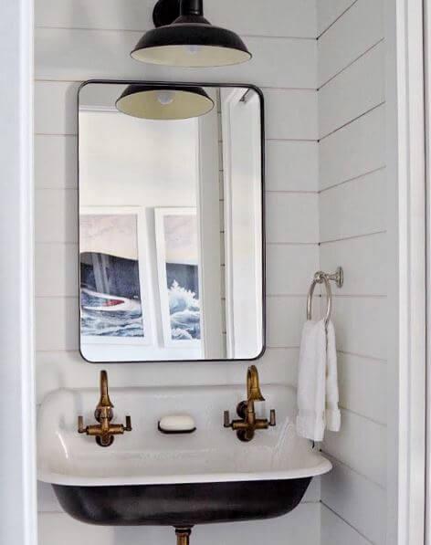 Coastal Inspired Bathroom by Amy Studebaker Design