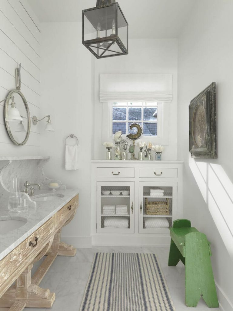 Coastal Inspired Guest Bathroom from Amy Studebaker Design
