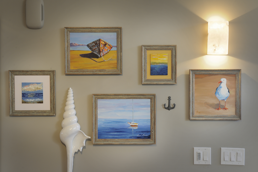Coastal Art Gallery by Marcia Moore Design
