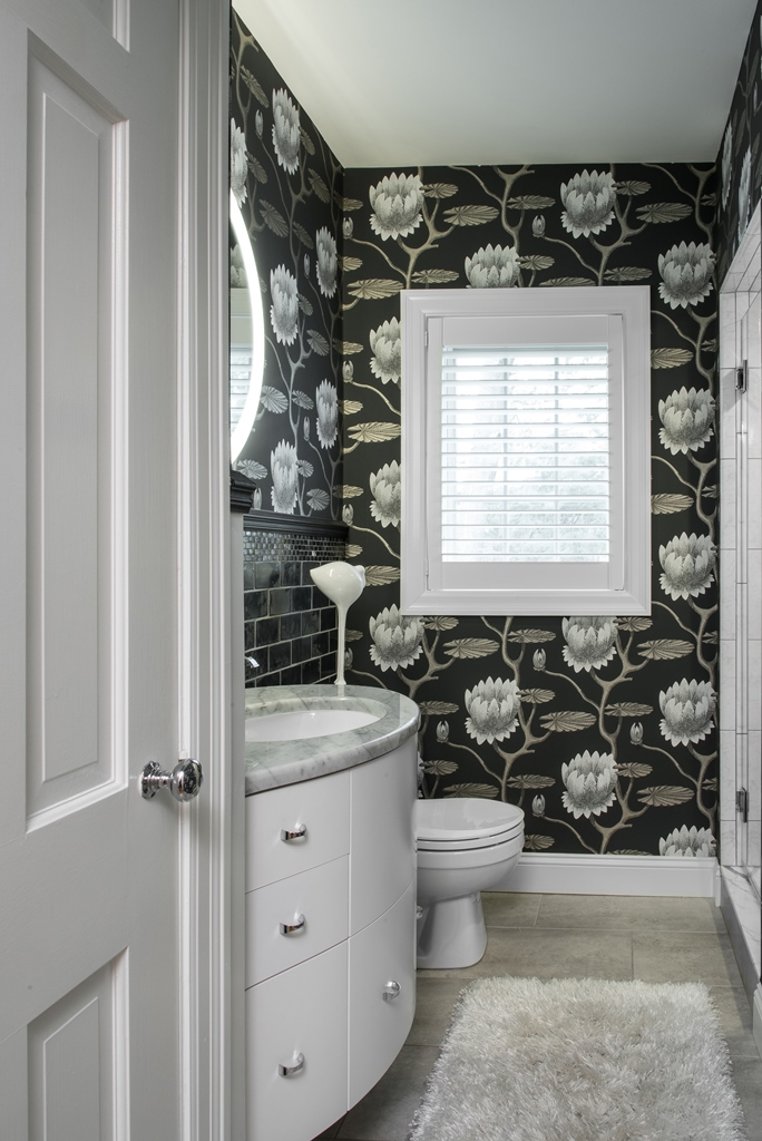 Upscale Downsizing: Powder Room by Marcia Moore