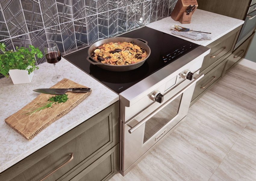 Wolf Induction Range - Pairs induction cooking with a dual convection oven.